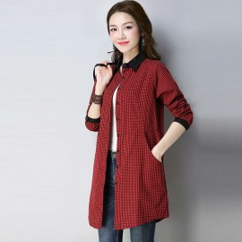 MIRA Gingham Shirt (Red)
