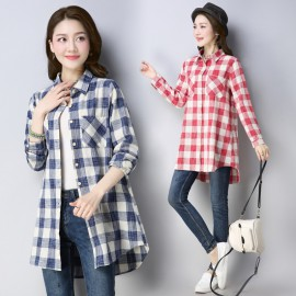 MIRA Checkered Shirt (Blue)