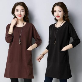 MIRA Basic Blouse (Brown)