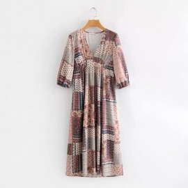 Patchwork Motif Dress