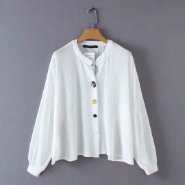 Shell Button Blouse