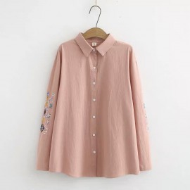 LM+ Embroidery Sleeve Shirt