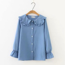 LM+ Pan Collar Blouse