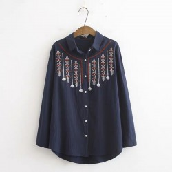 LM+ Tribal Embroidered Shirt