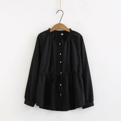 LM+ Frilled Collar Blouse