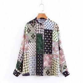Patchwork Motif Blouse