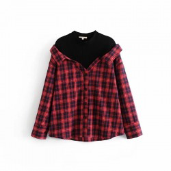 Combination Checkered Shirt