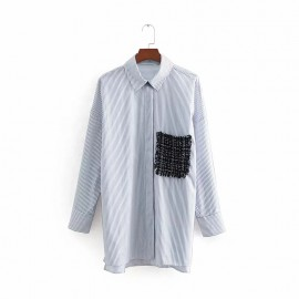 Patchwork Stripe Shirt
