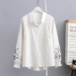 LM+ Floral Embroidery Shirt