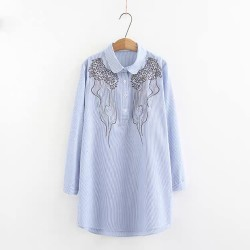 LM+ Long Embroidery Shirt