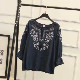 LM+ Embroidery Blouse
