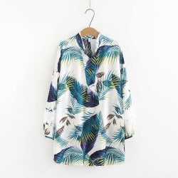 LM+ Tropical Print Blouse