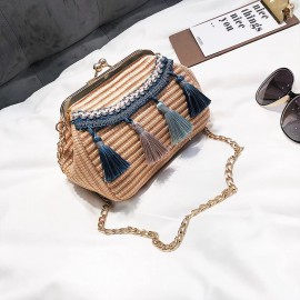 Clasp Bag with Tassels