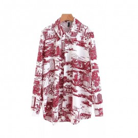Watercolor Motif Shirt