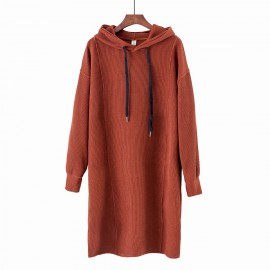 Long Hooded Pullover