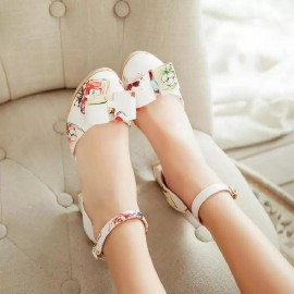 Patterned Bowtie Shoes (Extra size)