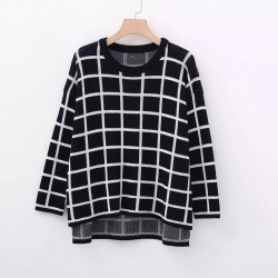 LM+ Grid Motif Sweater