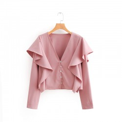 Crop Top with Frill