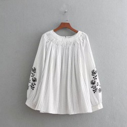 Embroidery Sleeve Blouse
