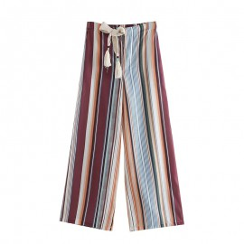 Stripe Motif Pants