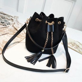 Tasseled Bucket Sling Bag