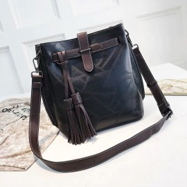 Large Tasseled Bucket Bag