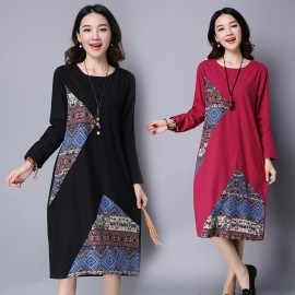 MIRA Patchwork Dress (Red)