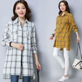 MIRA Checkered Shirt (White)