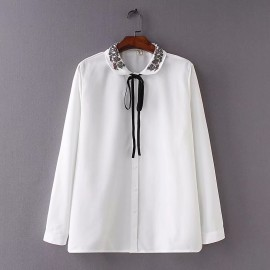 LM+ Collar Applique Shirt