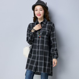 MIRA Checkered Shirt (Black)