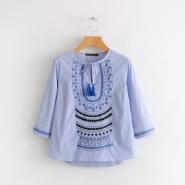 Embroidered Motif Top
