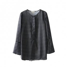 Geometric Motif Blouse