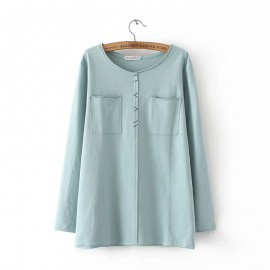 LM+ Double Pocket Blouse