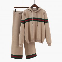 Hooded Pullover and Pants Set