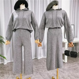 Casual Hoodie and Pants Set