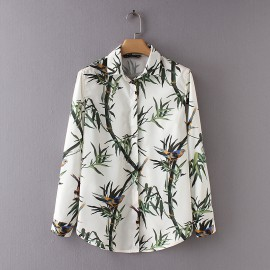 Bird Print Blouse
