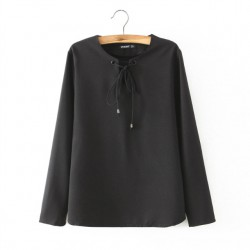Blouse with Tie-String