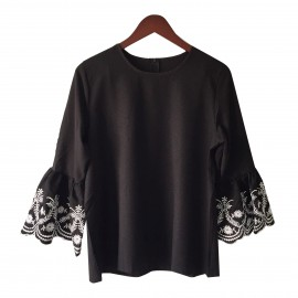 Flare Embroidery Top