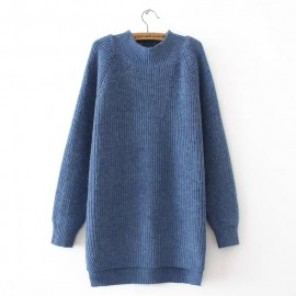 LM+ Long Knit Pullover