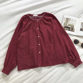 Basic Button Blouse