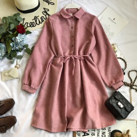 Dress with Button