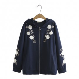 LM+ Floral Zipper Jacket