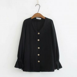LM+ Button Blouse