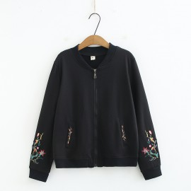 LM+ Floral Sleeve Jacket