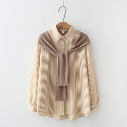 Stripe Shawl Shirt