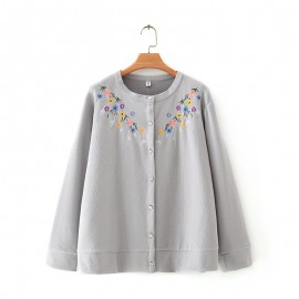 LM+ Floral Knit Cardigan