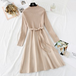 Combination Knit Dress