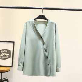 LM+ Crossover Button Blouse