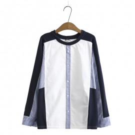 LM+ Colorblock Blouse