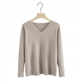 LM+ V-Neck Knit Top